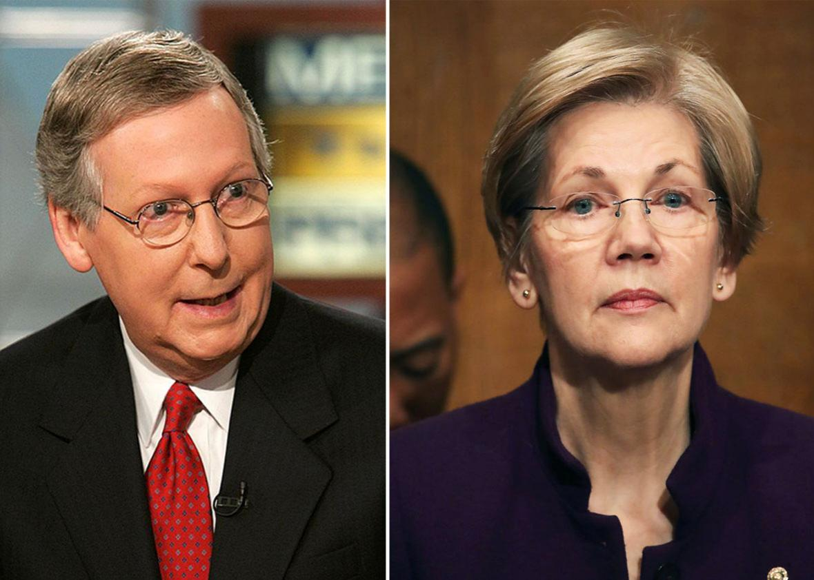 Mitch McConnell and Elizabeth Warren: the Filibuster